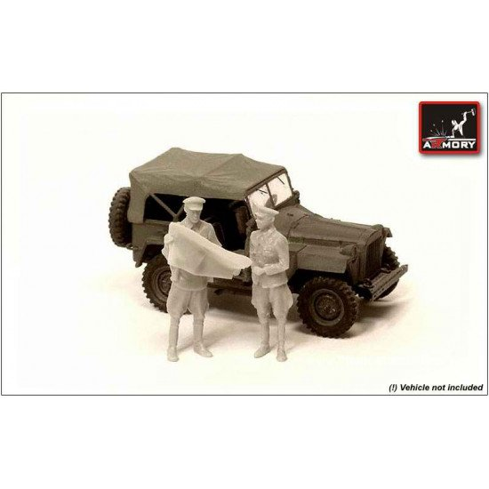 RESIN RKKA officers with map (WWII) 2 fig. 1/72 Armory F7201