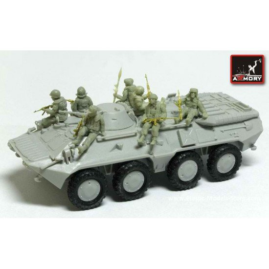 RESIN Russian APC riders (modern) 7 fig. with PE weapons 1/72 Armory F7204