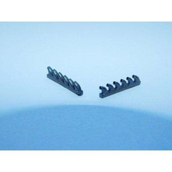 Exhaust Pipes for P-39 Airplane univers. 1/72 REXx 72021 Branch Pipes