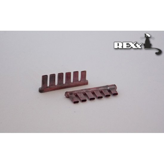 Exhaust Pipes for Heinkel He 70 Airplane ICM 1/72 REXx 72027 Branch Pipes