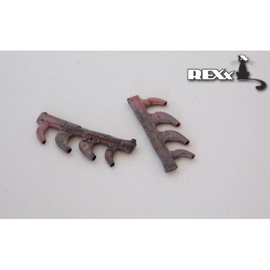 Exhaust Pipes for Yak - 1\-7early Airplane univers. 1/72 REXx 72028 Branch Pipes