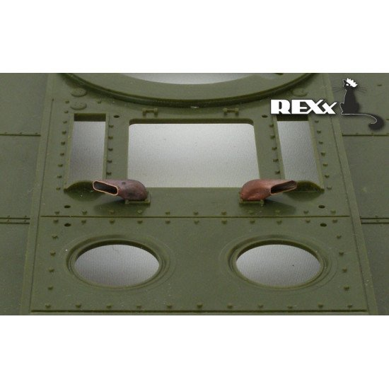 Exhaust Pipes for KV-1\2early Tank univers. 1/35 REXx 35002 Branch Pipes