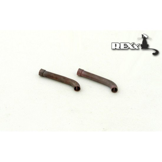 Exhaust Pipes for Pz.Kpfw.V Ausf.A\D\F\G Tank univers. 1/35 REXx 35003 Branch Pipes