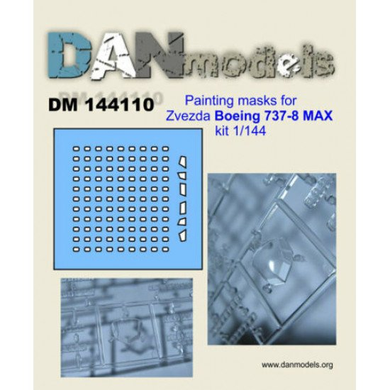 Dan Models 144110 Painting masks for Zvezda Boeing 737-8 MAX 1/144 scale kit