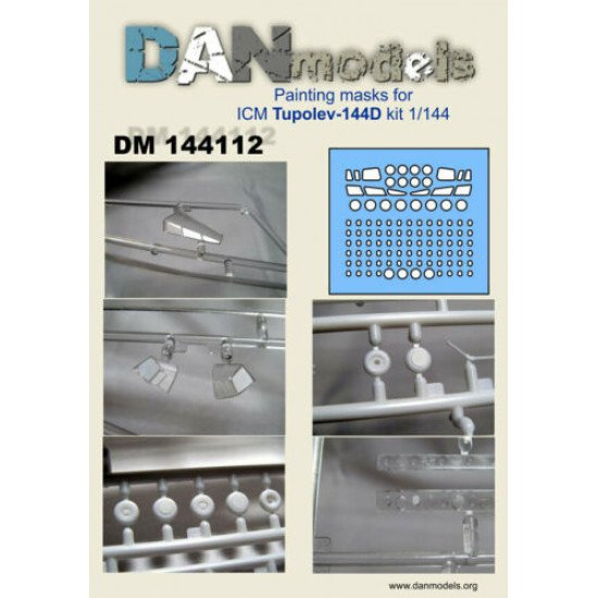 Dan Models 144112 Painting Masks for ICM Tupolev-144D New in Box 1/144 scale kit