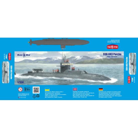 MIKRO-MIR 350-039 - 1/350 - SSN-683 Parche (late version)