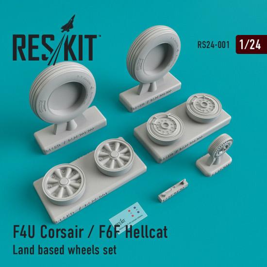 Reskit RS24-0001 - 1/24 - F4U Corsair / F6F Hellcat Land based wheels set
