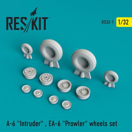 """Reskit RS32-0001 - 1/32 - A-6 """"Intruder"""" , EA-6 """"Prowler"""" wheels set model kit"""