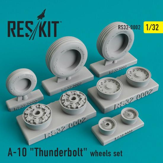 "Reskit RS32-0002 - 1/32 - Fairchild Republic A-10 ""Thunderbolt"" wheels set model"