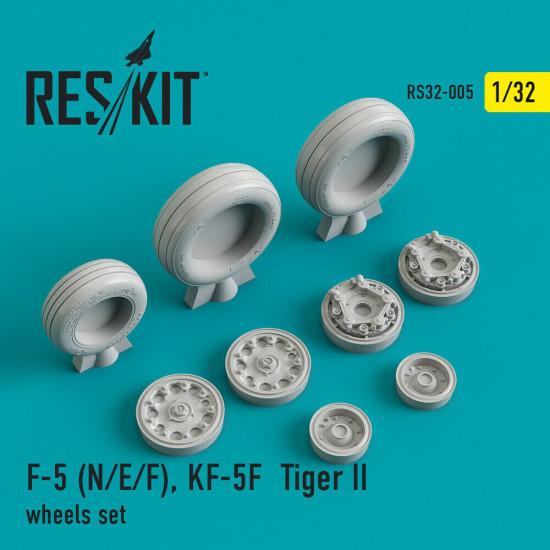 Reskit RS32-0005 - 1/32 - F-5 (N/E/F), KF-5F Tiger II wheels set model kit
