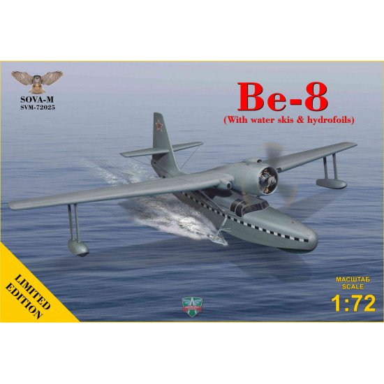 Sova Model 72025 - 1/72 - Be-8 with water skis & hydrofoils (+rolling carriage)