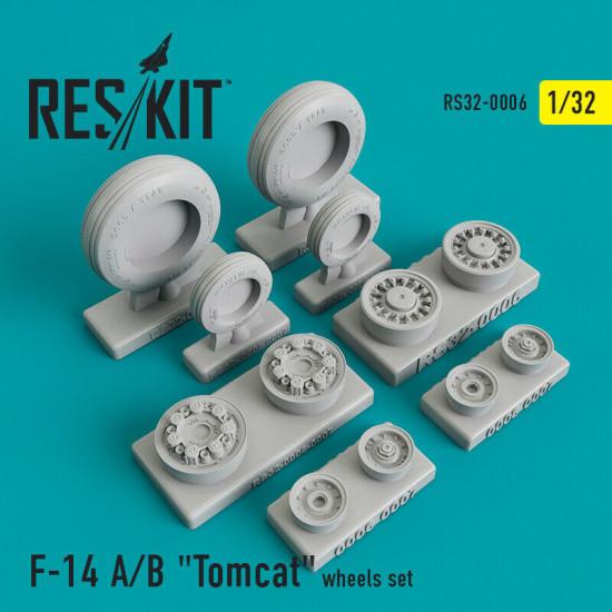 """Reskit RS32-0006 - 1/32 - Grumman F-14 A/B """"Tomcat"""" wheels set model kit"""