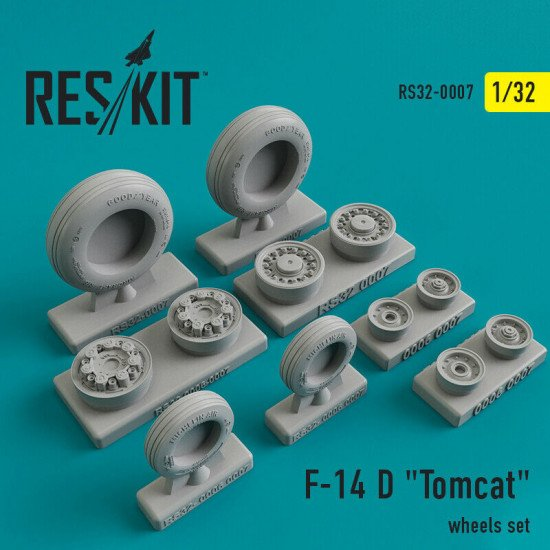 "Reskit RS32-0007 - 1/32 - Grumman F-14 D ""Tomcat"" wheels set model kit"