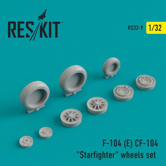 "Reskit RS32-0009 - 1/32 - F-104 (E) CF-104 ""Starfighter"" wheels set model kit"