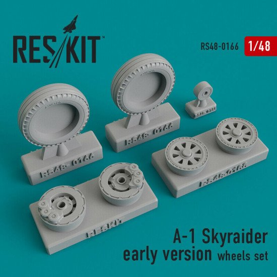 Reskit RS48-0166 - 1/48 –Wheels set for A-1 Skyraider early version Resin Detail