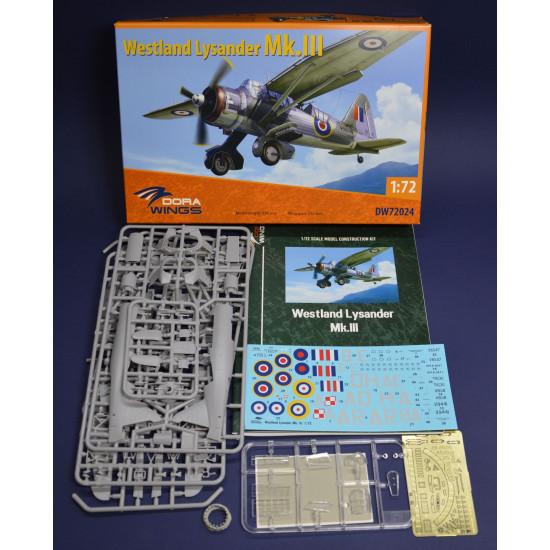 Dora Wings 72024 - 1/72 - Westland Lysander Mk.III . Scale model kit