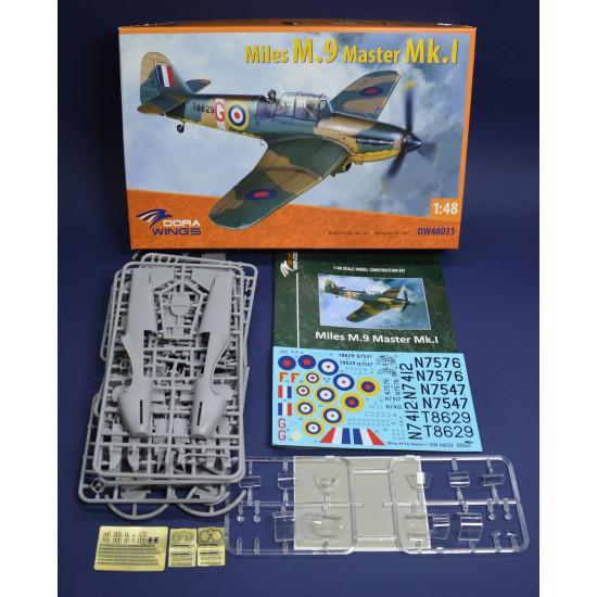 Dora Wings 48033 - 1/48 - Miles M.9 Master Mk.I. Scale military aircraft 150 pcs