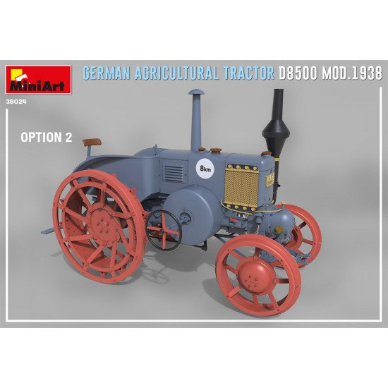 Miniart 38024 - 1/35 - GERMAN AGRICULTURAL TRACTOR D8500 MOD. 1938 year. 97 mm