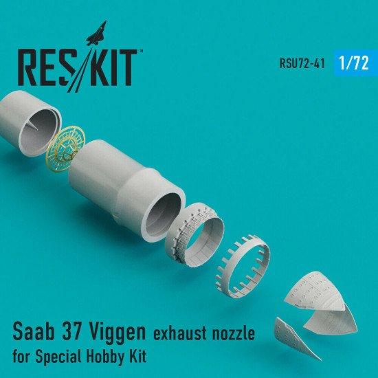 Reskit RSU72-0041 - 1/72 Saab 37 Viggen exhaust nozzle for Special Hobby Kit