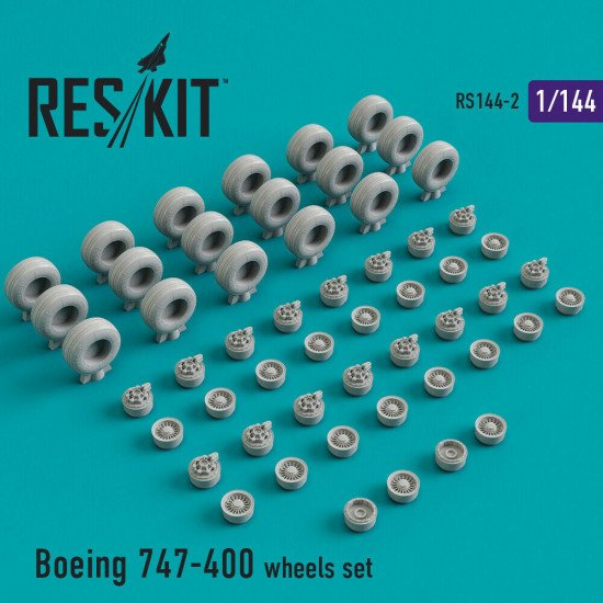 Reskit RS144-002 - 1/144 Boeing 747-400 ER/ERF, wheels set Resin Detail kit