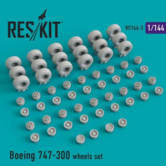 Reskit RS144-003 - 1/144 Boeing 777-300 wheels set scale Resin Detail kit