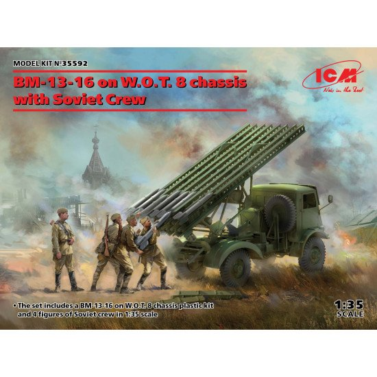 ICM 35592 - 1/35 - BM-13-16 on W.O.T. 8 chassis with Soviet Crew