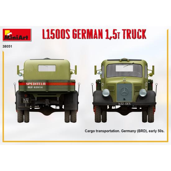 Miniart 38051- 1/35 L1500s German 1,5t truck, scale model kit