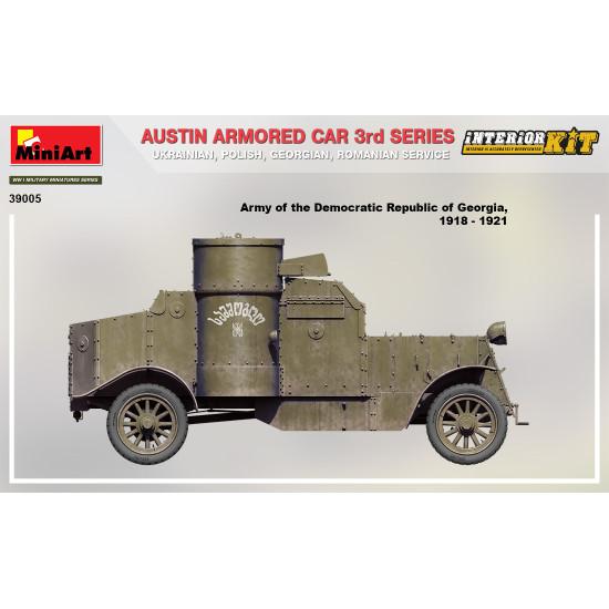Miniart 39005 - 1/35 - Austin armored car 3rd, interior kit scale plastic model