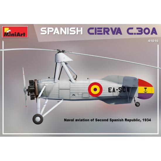 Miniart 41016 - 1/35 - Spanish Cierva C.30A, Reconnaissance gyroplane, scale