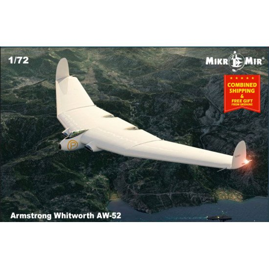 Mikro-mir 72-016 - 1/72 - Armstrong Whitworth AW-52. Scale model aircraft
