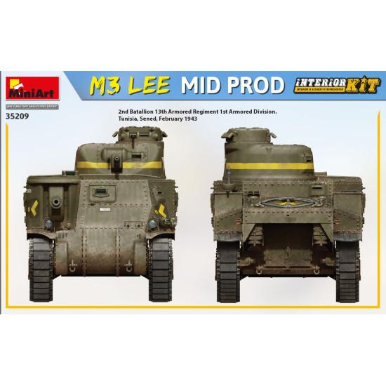Miniart 35209 - 1/35 M3 Lee mid prod. interior kit WWII military miniatures