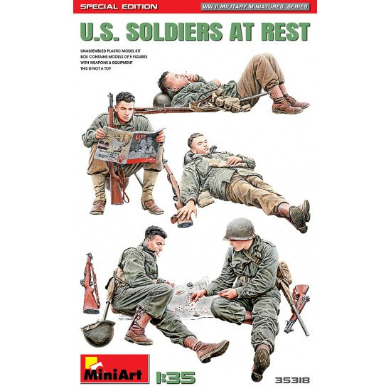 Miniart 35318 - 1/35 U.S. soldiers at rest. special edition, military miniatures