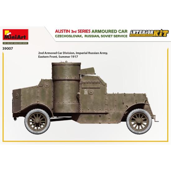 Miniart 39007 - 1/35 austin armoured car 3rd series: czechoslovak, russian, USSR