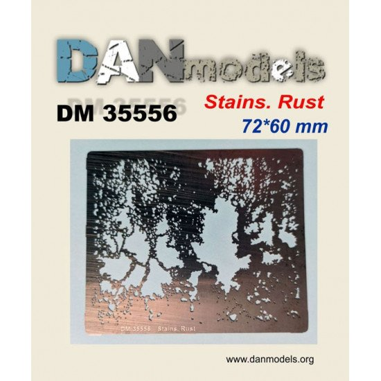 Dan Models 35556 Stencil No. 4 for applying rust stains on a scale 1:35 kit