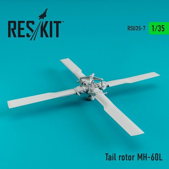 Reskit RSU35-0007 - 1/35 Tail rotor MH-60, UH-60, HH-60 scale plastic model kit