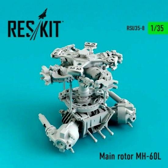 Reskit RSU35-0008 - 1/35 Main rotor MH-60, UH-60, HH-60 scale plastic model kit