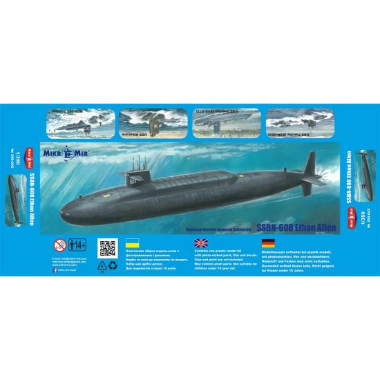 Mikro Mir 350-042 - 1/350 - SSBN-608 Ethan Allen. Scale plastic model kit