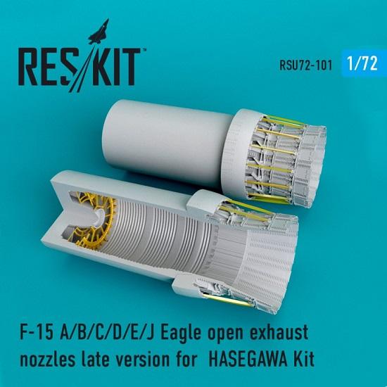 Reskit RSU72-0101 - 1/72 F-15 (A/B/C/D/E/J) Eagle open exhaust nozzles HASEGAWA