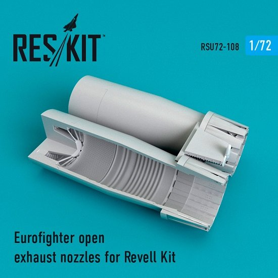 Reskit RSU72-0108 - 1/72 Eurofighter open exhaust nozzles for Revell Kit scale