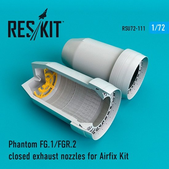 Reskit RSU72-0111 - 1/72 Phantom FG.1/FGR.2 closed exhaust nozzles for Airfix