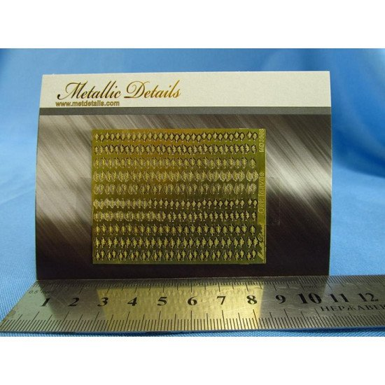 Metallic Details MD3508 - 1/35 Photoetched parts for imitation of oak leaves for dioramas