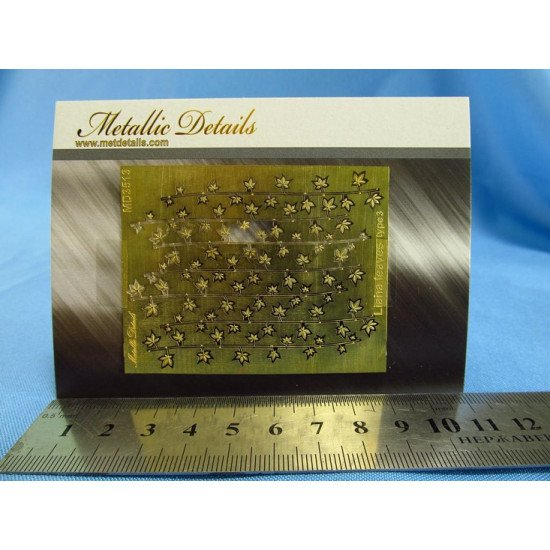 Metallic Details MD3513 - 1/35 Imitation of liana leaves type 3 (Photoetched)