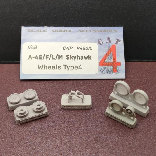 CAT4 R48015 - 1/48 - CAT4 R48015 - A-4E/F/L/M Skyhawk Wheels Type 4 for aircraft