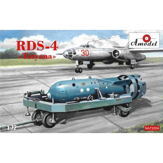"Amodel NA 72004 - 1/72 - Soviet atomic bomb RDS-4 ""Tatyana"" scale model kit"