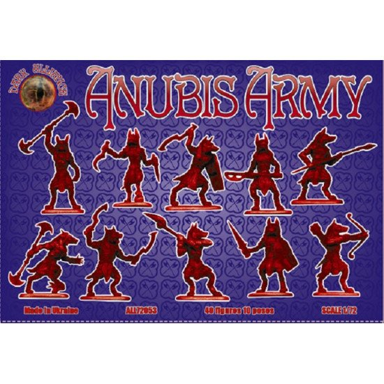 Alliance 72053 - 1/72 - Anubis army. 40 figures, 10 poses. Scale model kit