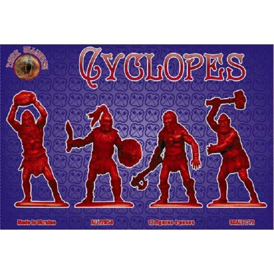 Alliance 72054 - 1/72 - Cyclopes. 12 figures, 4 poses. Scale model kit