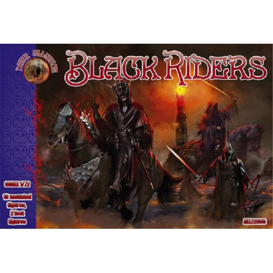 Alliance 72055 - 1/72 - Black riders. 10 mounted figures, 2 foot figures scale