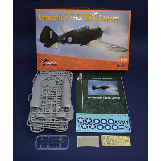 Dora Wings 48034 - 1/48 - Republic P-43 Lancer, reconnaissance scale model kit