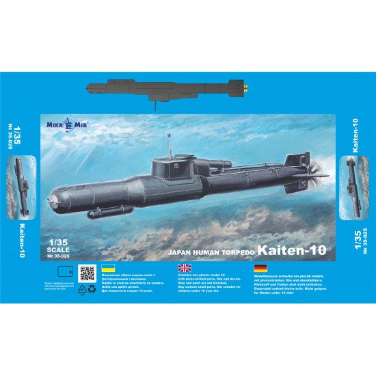 Mikro Mir 35-025 - 1/35 - Kaiten-10 Japan suicide torpedo. Scale model kit
