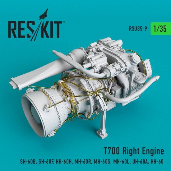 Reskit RSU35-0009 - 1/35 T700 Right Engine (SH-60B, SH-60F, HH-60H, MH-60R...)